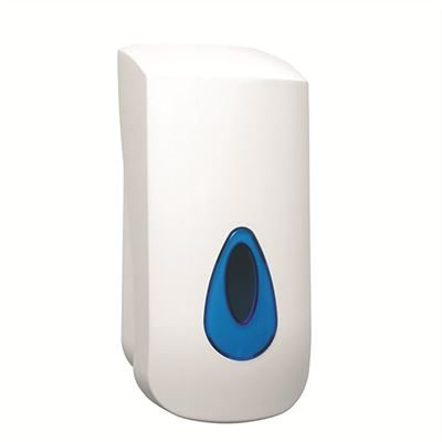 Plastic push action liquid soap dispenser