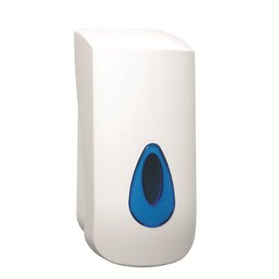 Plastic push action liquid soap dispenser