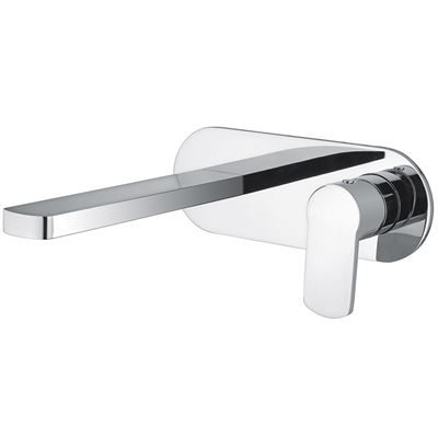 SanCeram Hartley wall mounted basin mixer tap - Chrome