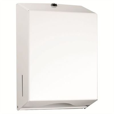 Metal lockable paper towel dispenser - White
