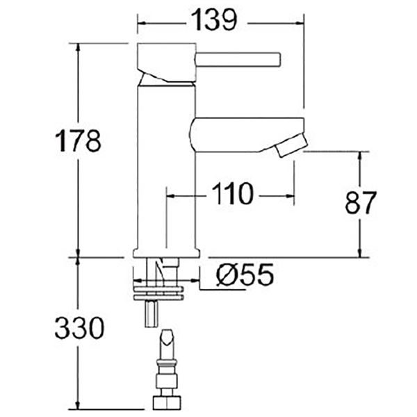 Deva Insignia Lever Action Mono Basin Mixer - INS113