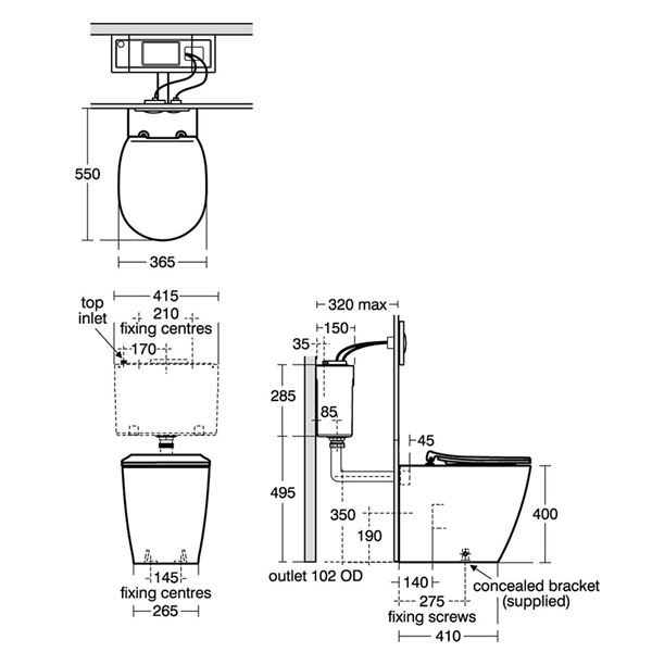 Ideal Standard Concept Back to Wall Toilet Pan - E050901