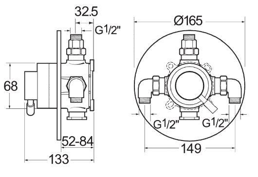Deva Vision thermostatic valve