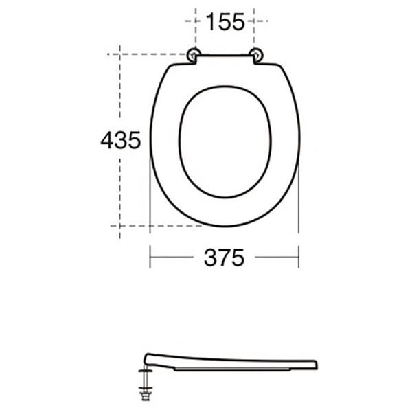 Armitage Shanks Contour 21 toilet seat in Charcoal - S4066RN