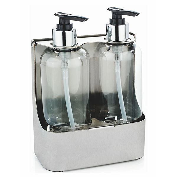 Stainless Steel Double Bottle Holder - PL04MBS