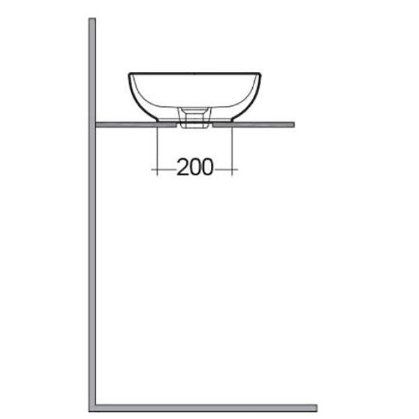 LLWB123 - Side elovation dims