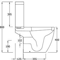 Marden Close Coupled Toilet Pack - MDWC103