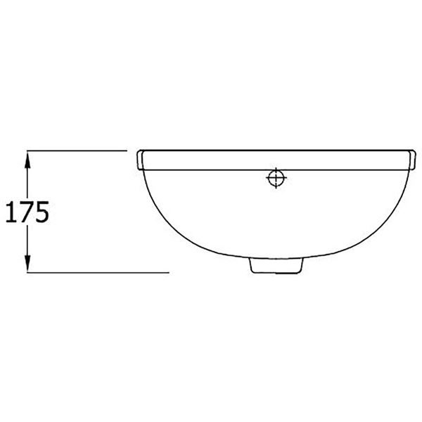 SanCeram Shenley 400 semi-recessed vanity basin with two tap holes
